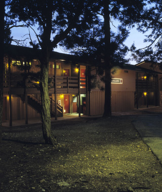 Maswick Lodge at night scenic shot
