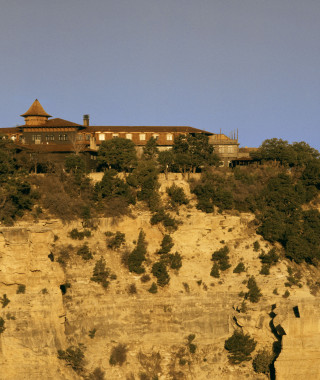 El Tovar Lodge from Canyon Rim Scenic Shot.