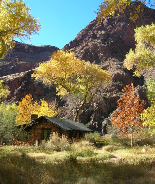 Scenic view of Phantom Ranch in the Fall.