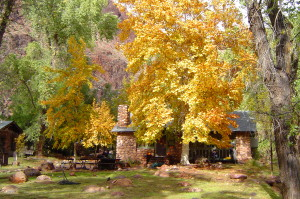 Scenic view of Phantom Ranch in the Fall