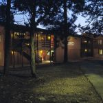 Maswik Lodge Exterior at dusk