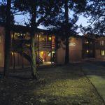 Maswik Lodge Exterior at dusk