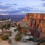 Dusk settles across the Grand Canyon.